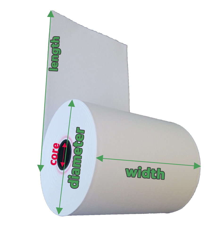 How to Measure Thermal Paper Roll?